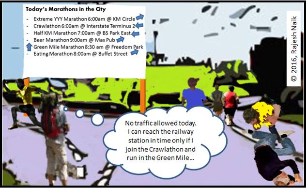 Cartoon: How Many Marathon Does a City Need?