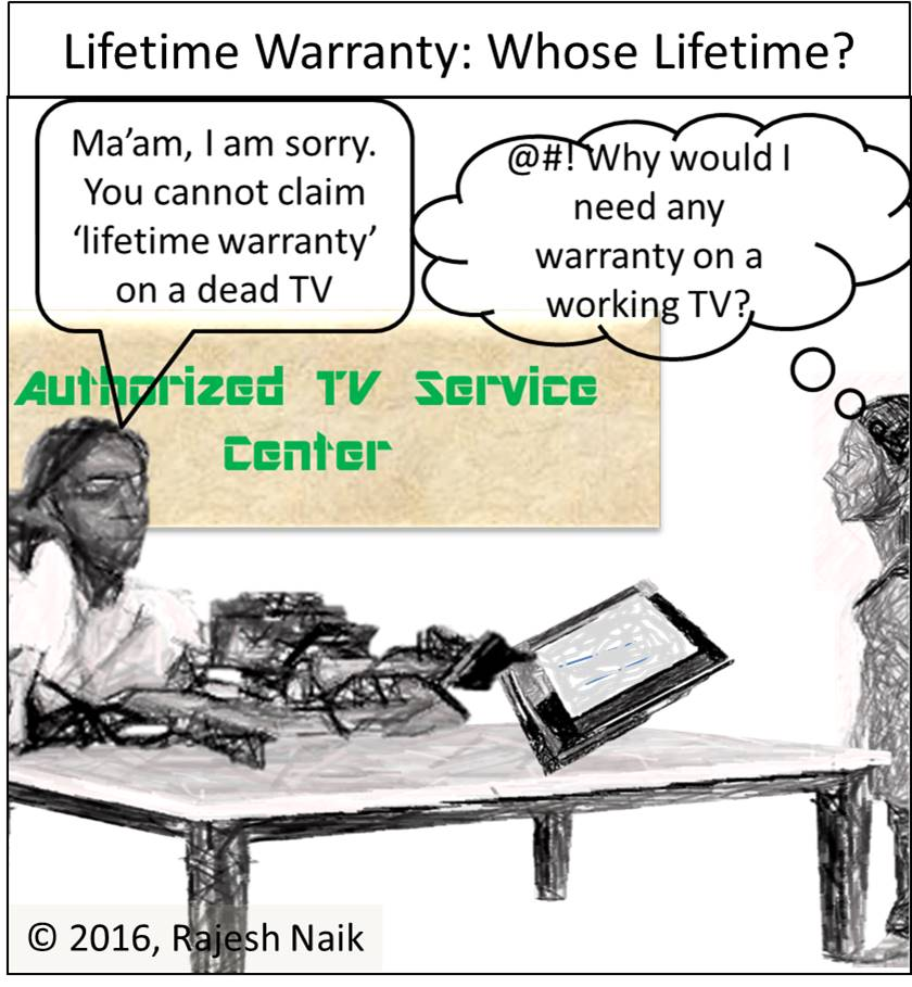 Cartoon: Lifetime Warranty ~ Whose Lifetime is it Anyway?