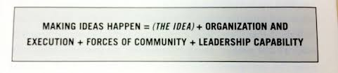Making Ideas Happen - Equation