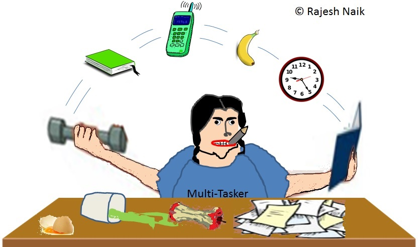 Multi Tasking Cartoon